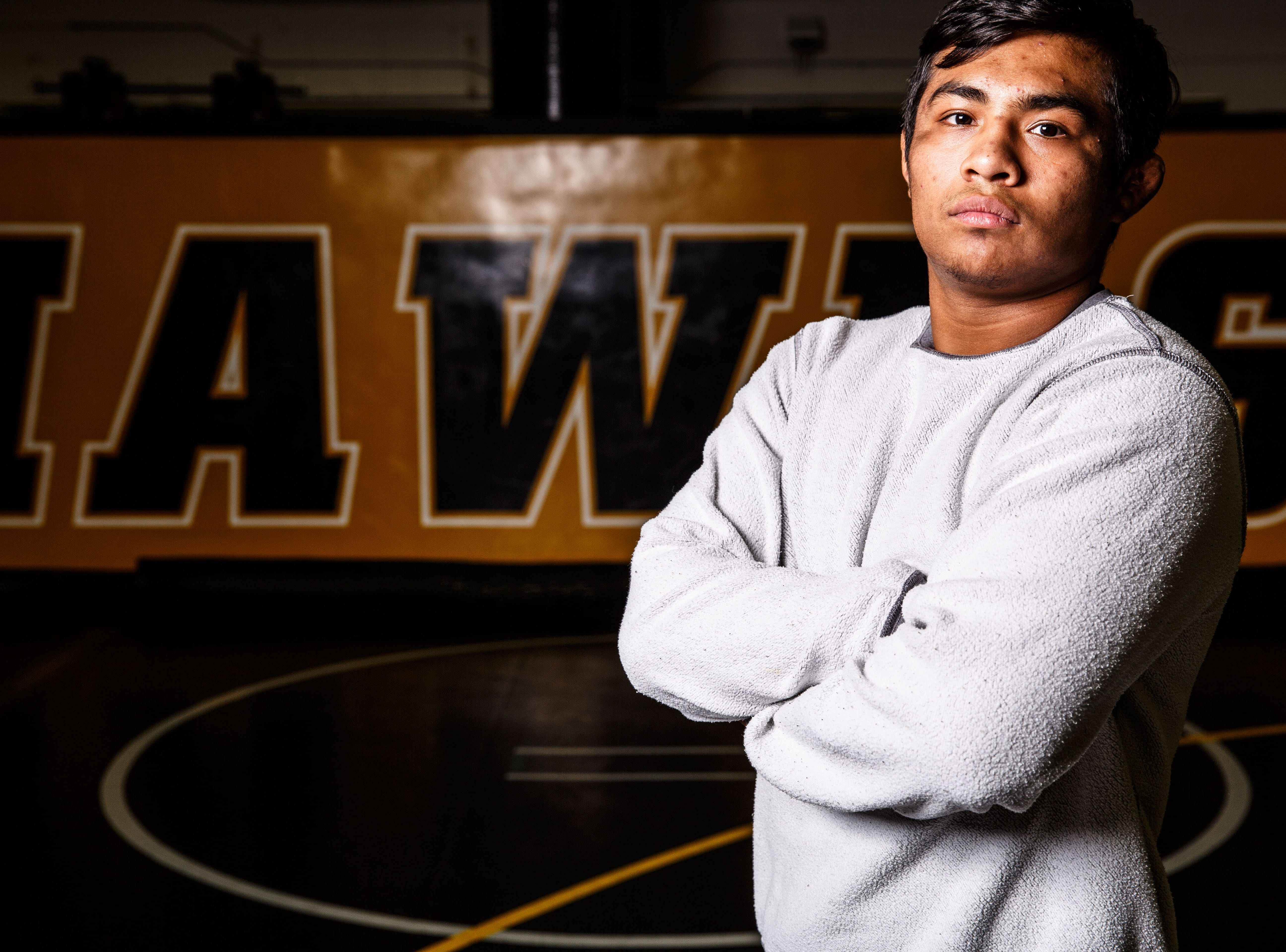 Jason Renteria stands for a portrait during Iowa wrestling media day Monday, Nov. 5, 2018.