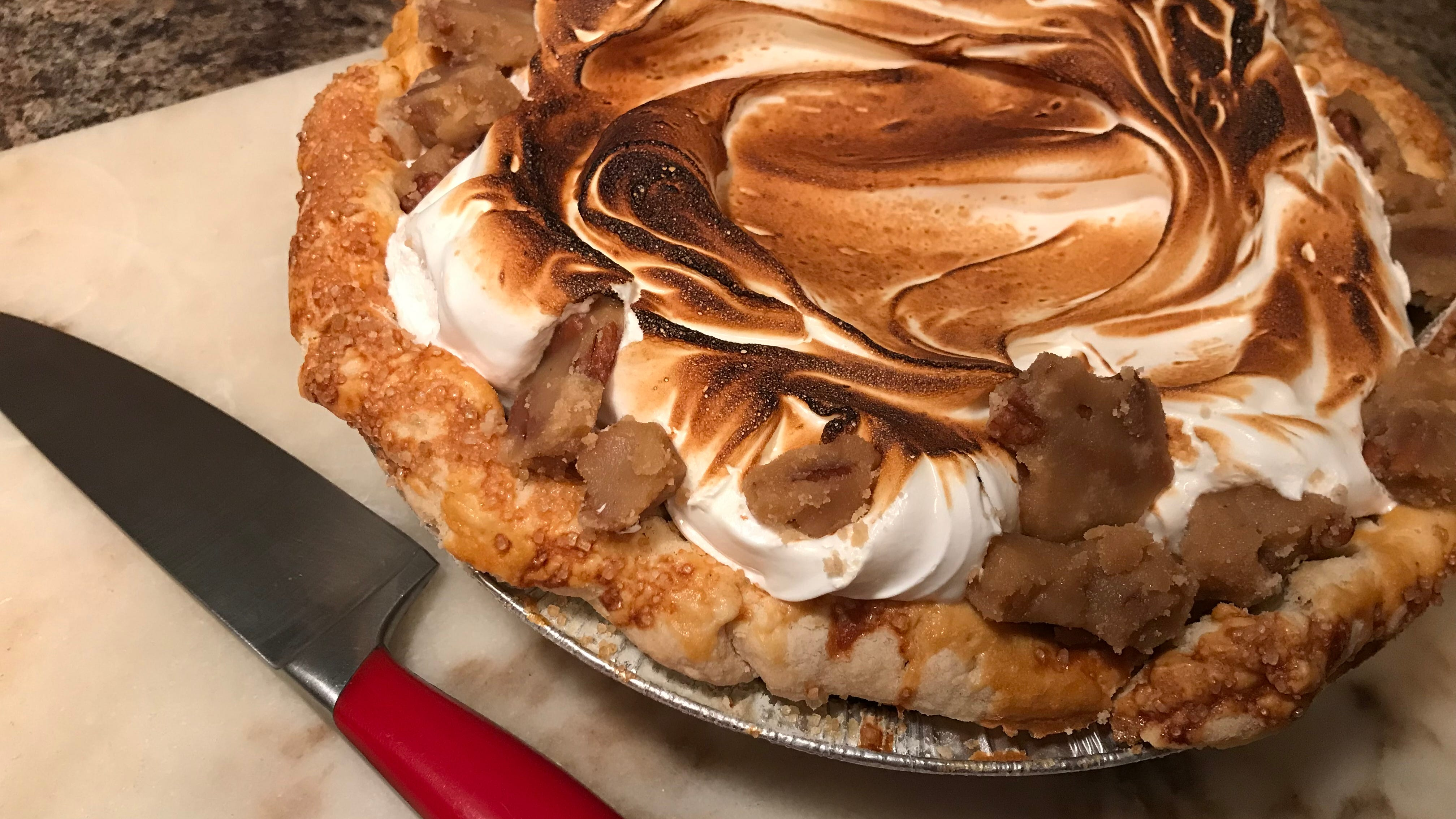 Toasted marshmallow sweet potato pie by Pots & Pans Pie Co., Indianapolis. Pots & Pans new pie shop opens Nov. 20 at 4915 College Ave., south of Broad Ripple. The cafe side of the business opens Dec. 1.