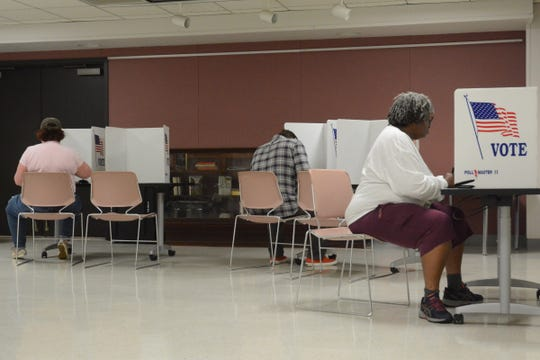 Voters came out early to vote in this year's midterm election at the Eudora Welty Library precinct in Jackson, Miss. on Nov. 6, 2018.