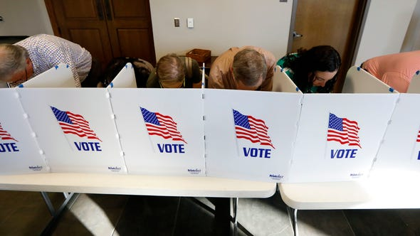 Every voting booth was filled by Madison County voters Tuesday, Nov. 6, 2018, as they filled out their paper ballots in Ridgeland, Miss. Voters have a number of races to consider, including judiciary and federal offices and some local issues.