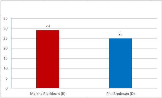 Madison County exit poll of Tennessee Senate race.