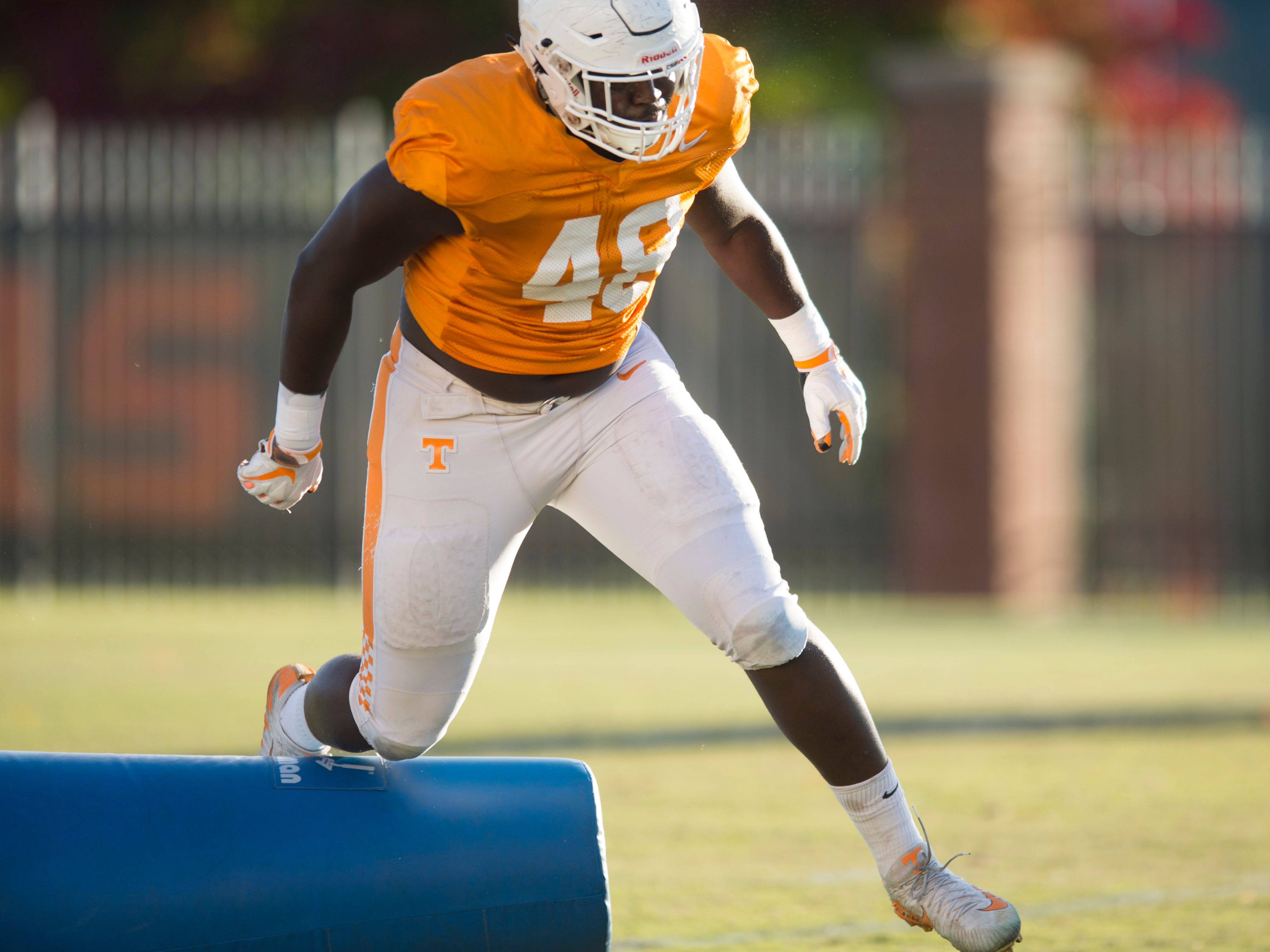 Tennessee tight end/running back Ja'Quain Blakely (48) during Tennessee football practice on Tuesday, November 6, 2018.