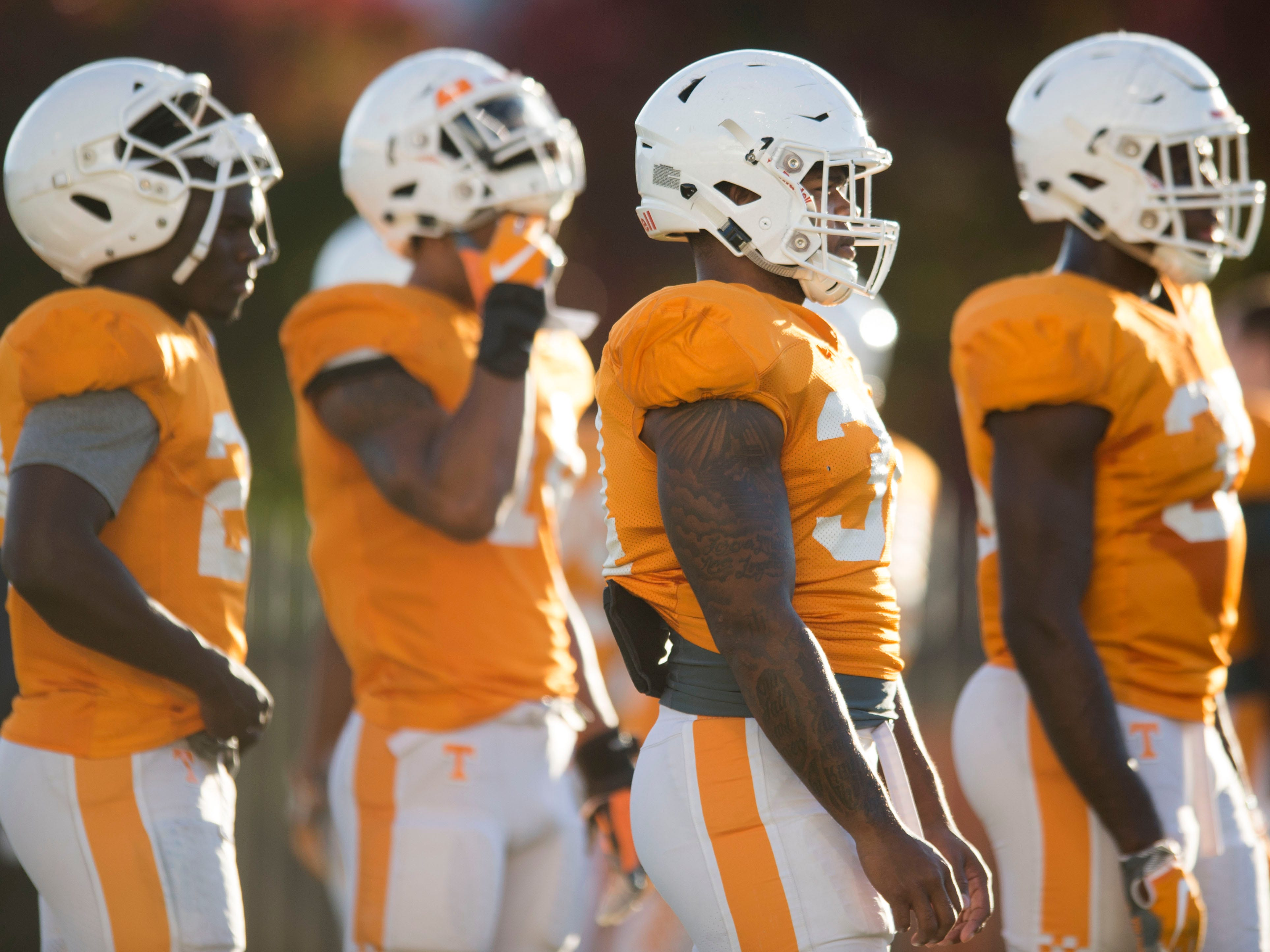 Tennessee football practice on Tuesday, November 6, 2018.