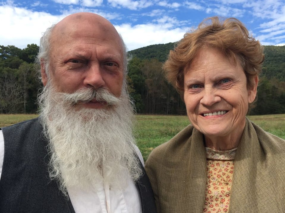 "James and Dorothy Giles are starring in the Knoxville-filmed Civil War movie ""Into the Wilderness."""
