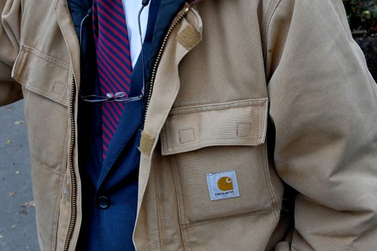 Tim Burchett, recognized by the reading glasses and the Carhartt jacket, on Election Day Tuesday, Nov. 6, 2018.