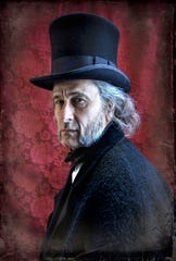 "Terry Weber is Scrooge in the Clarence Brown Theatre's ""A Christmas Carol."""