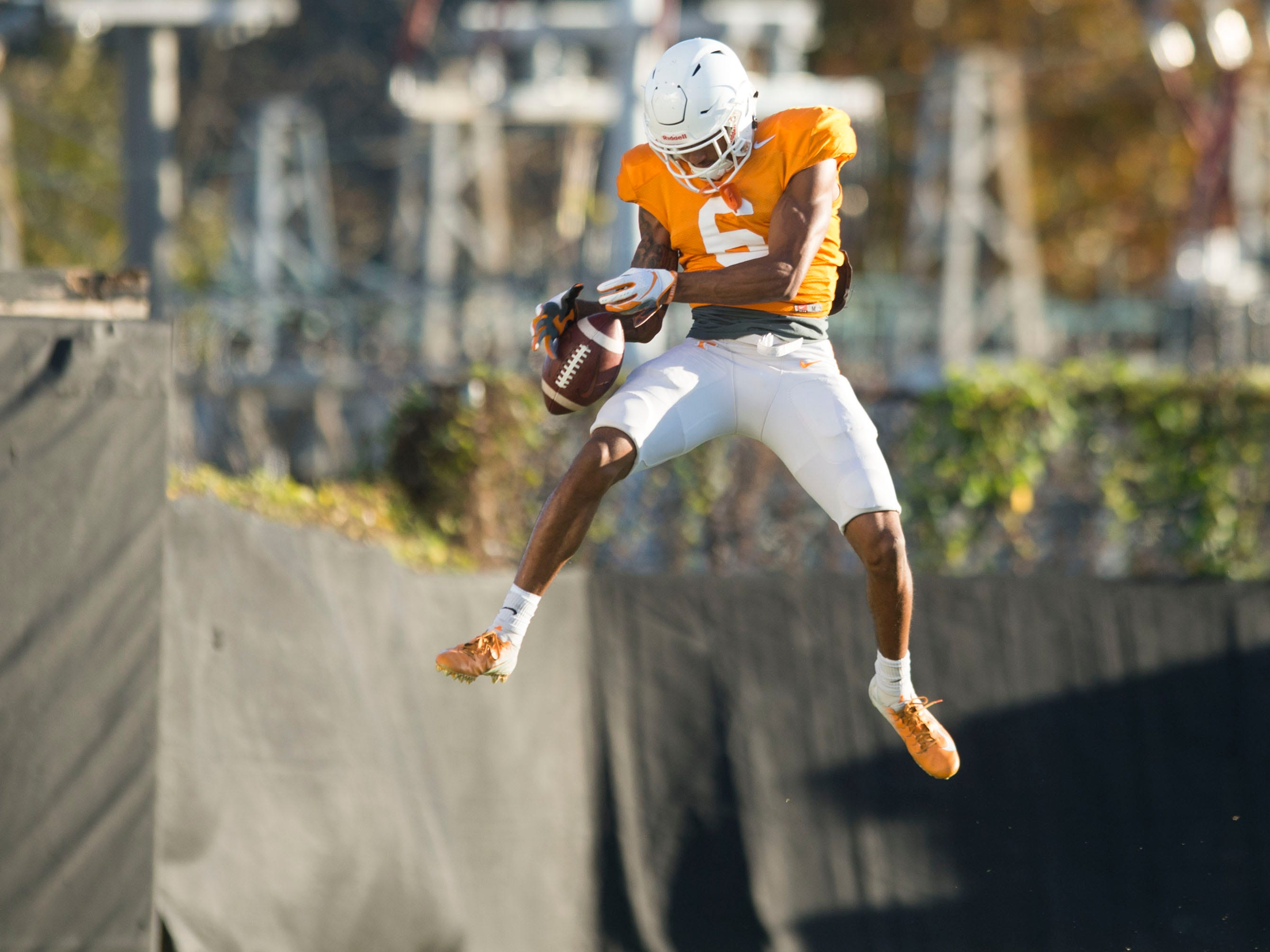 Tennessee defensive back/wide receiver Alontae Taylor (6) at football practice on Tuesday, November 6, 2018.