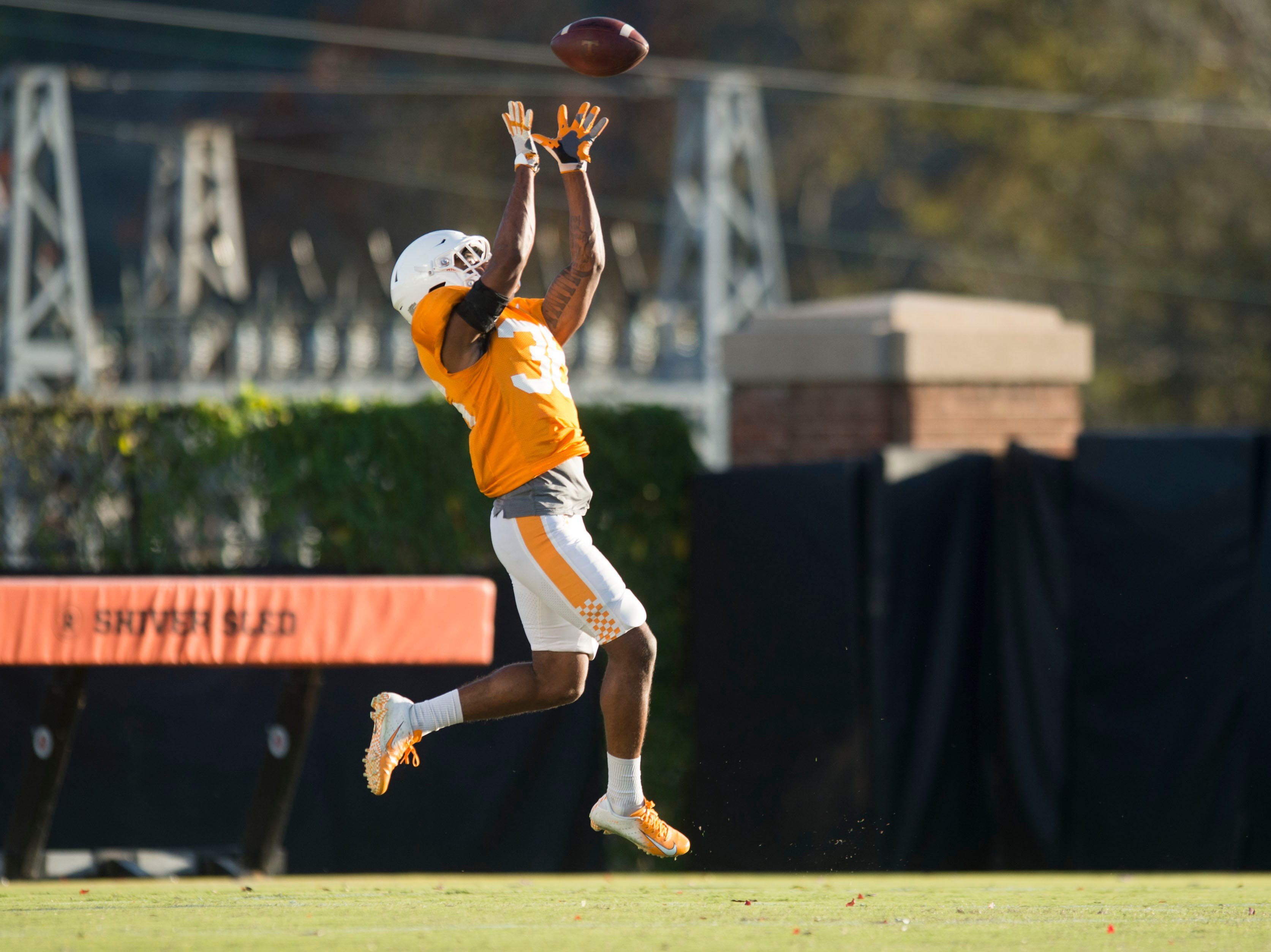 Tennessee defensive back Terrell Bailey (36) at football practice on Tuesday, November 6, 2018.
