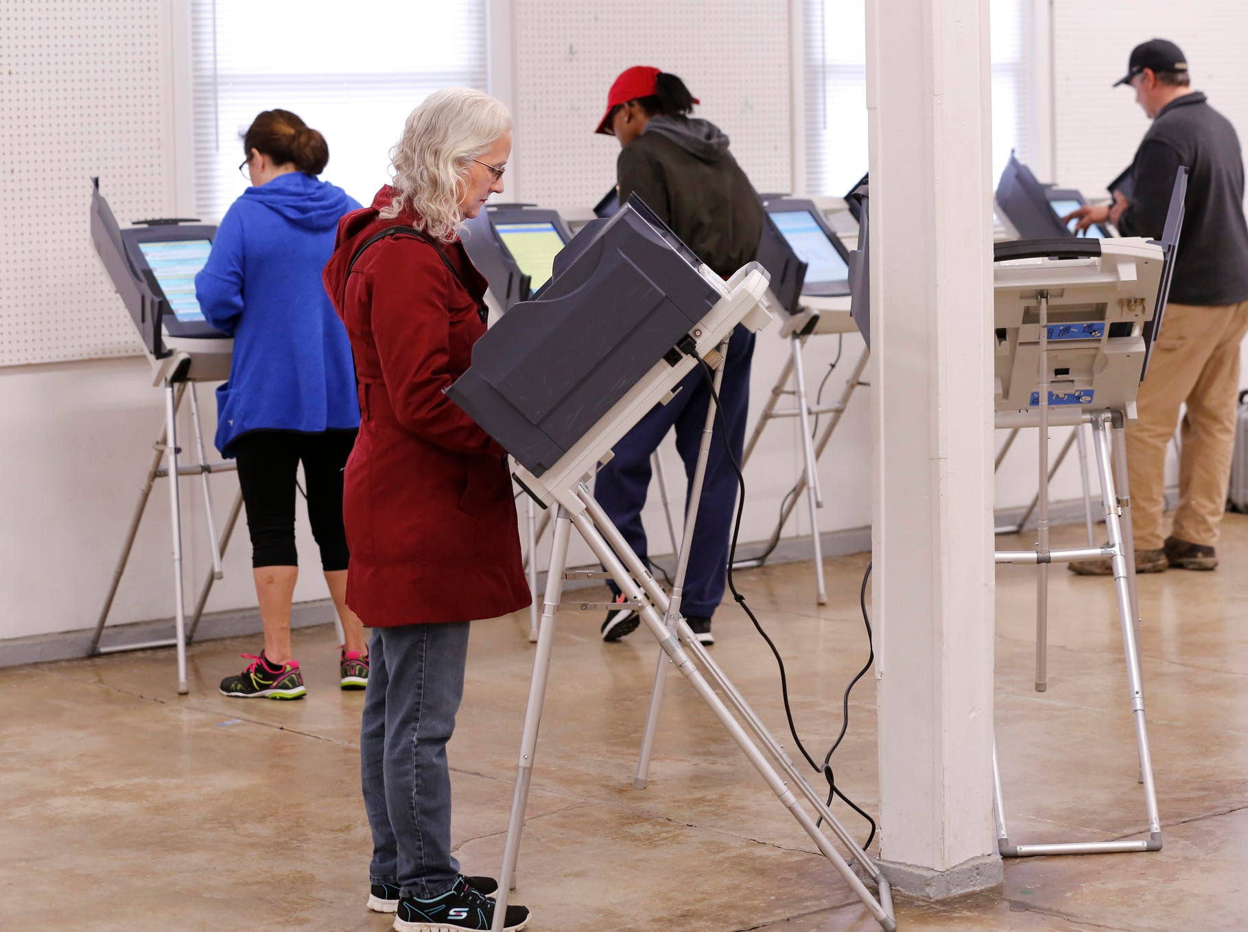 Residents cast their ballots Tuesday, November 6, 2018, at the Tippecanoe County Fairgrounds in Lafayette.