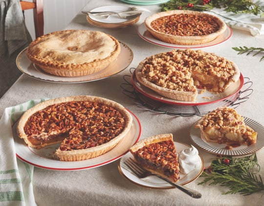 Cracker Barrel is offering Chocolate Pecan, Pecan, Apple Pecan Streusel, and All-American Apple Pie (no sugar added)  from Oct. 29 – Dec. 24. Pumpkin pies are available Nov. 17 – 25 (while supplies last).