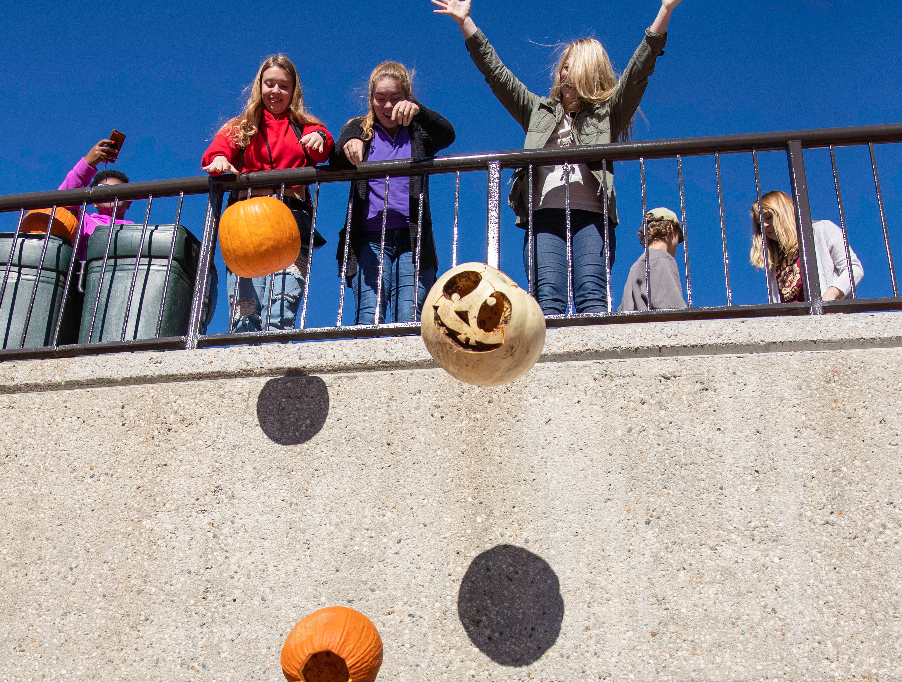 University of Louisville Sustainability program hosted second pumpkin smash near the Student Activities Center, Tuesday, Nov. 6, 2018 in Louisville Ky.