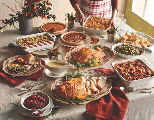 "Cracker Barrel is offering a Thanksgiving ""Heat N Serve"" Holiday family meal that feeds up to 10 people."