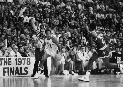 Kentucky s Jack Givens ( 21) drives against Duke in the 1978 NCAA  championship game 9e9f384ed