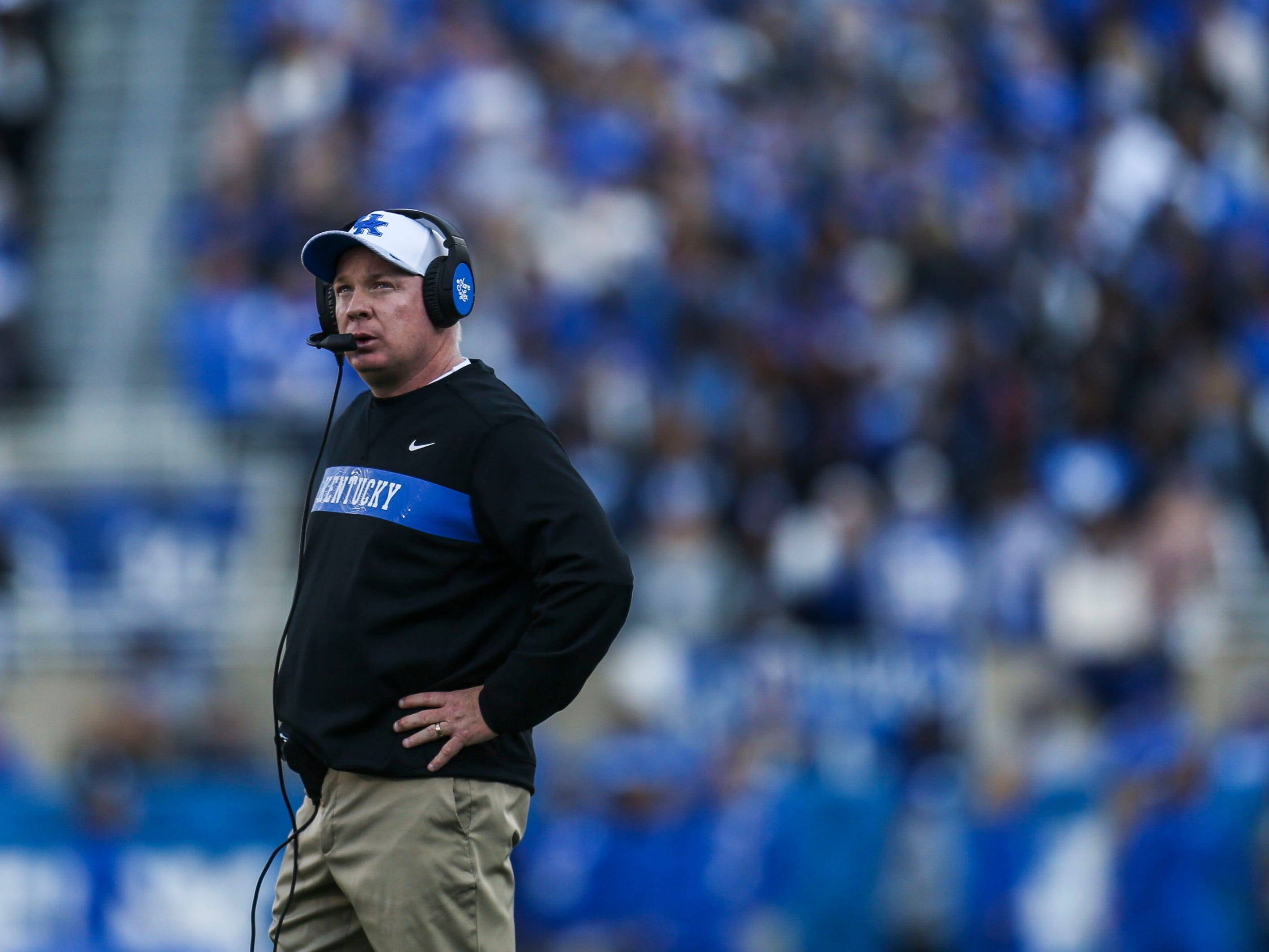 "Kentucky's Mark Stoops after the loss against Georgia: ""Any time you invest as much as we do into these games and put ourselves in that position, it's going to hurt,"" ""That's what I told the team: We invested a lot, and I understand that. But we can't, one, make this loss turn into two."""