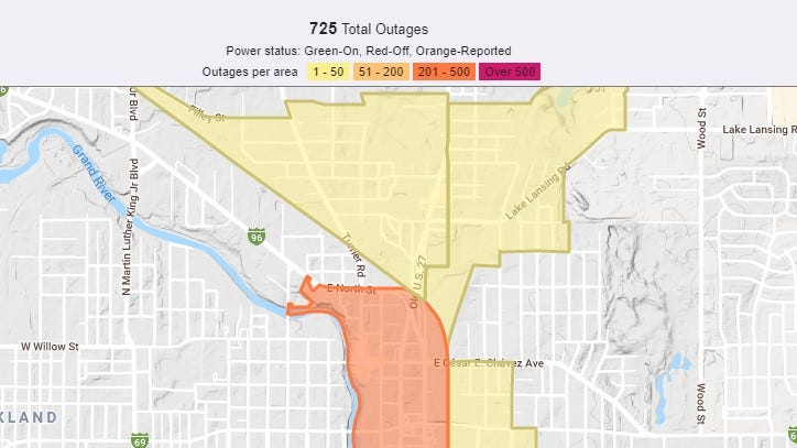 Power outages in Lansing did not close polling locations
