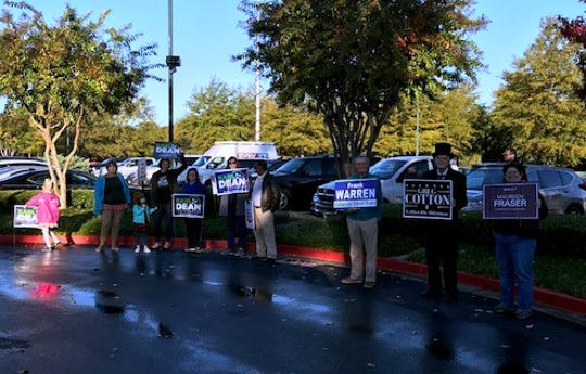 The scene outside the Schilling Farms YMCA polling place in Collierville around 7 a.m. as polls opened.
