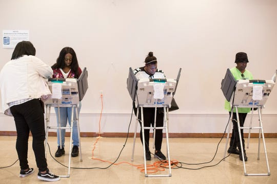 November 06 2018 - Voters cast their ballots at a voting location inside of Springdale Baptist Church.
