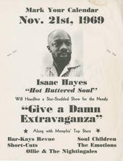 """The November 1969 """"Give A Damn Extravaganza"""" was one of many charity concerts held at the Mid-South Coliseum featuring Stax artists like Isaac Hayes, the Bar-Kays, the Soul Children, and others."""