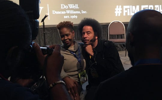 Boots Riley was much in demand for selfies at the Indie Memphis Film Festival.