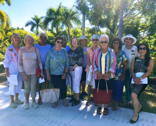 Calusa Garden Club guides with The Summit House Juliets.