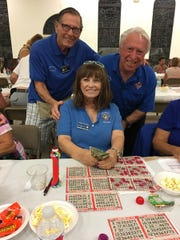 The Knights of Columbus San Marco Council #6344 hosted a Bingo Fundraiser in the San Marco Parish Center Nov. 1. The jackpot winner, above, was Donna DiFilippo.