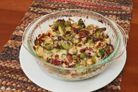 Andrea Hansen makes her brussels sprouts-Gruyere casserole every year for the feast.