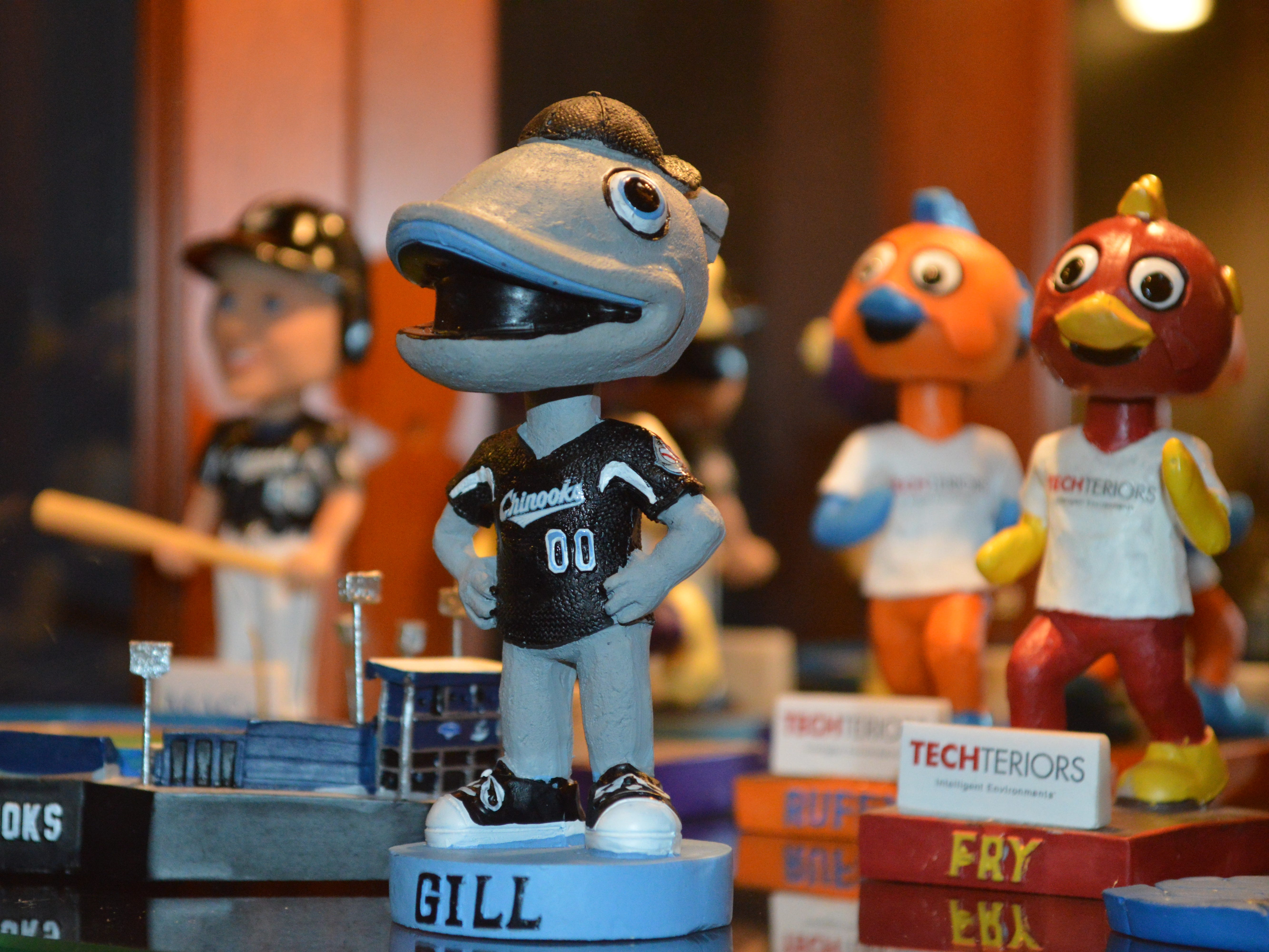 John Jastroch has about 500 bobbleheads in his collection.