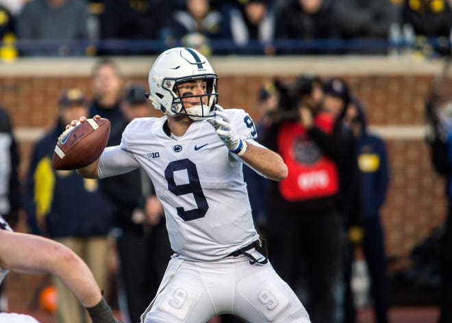 Quarterback Trace McSorley leads a Penn State offense that averages 5.3 plays or 20 or more yards per game this season. His status for the Nittany Lions' game against Wisconsin on Saturday is unclear though.