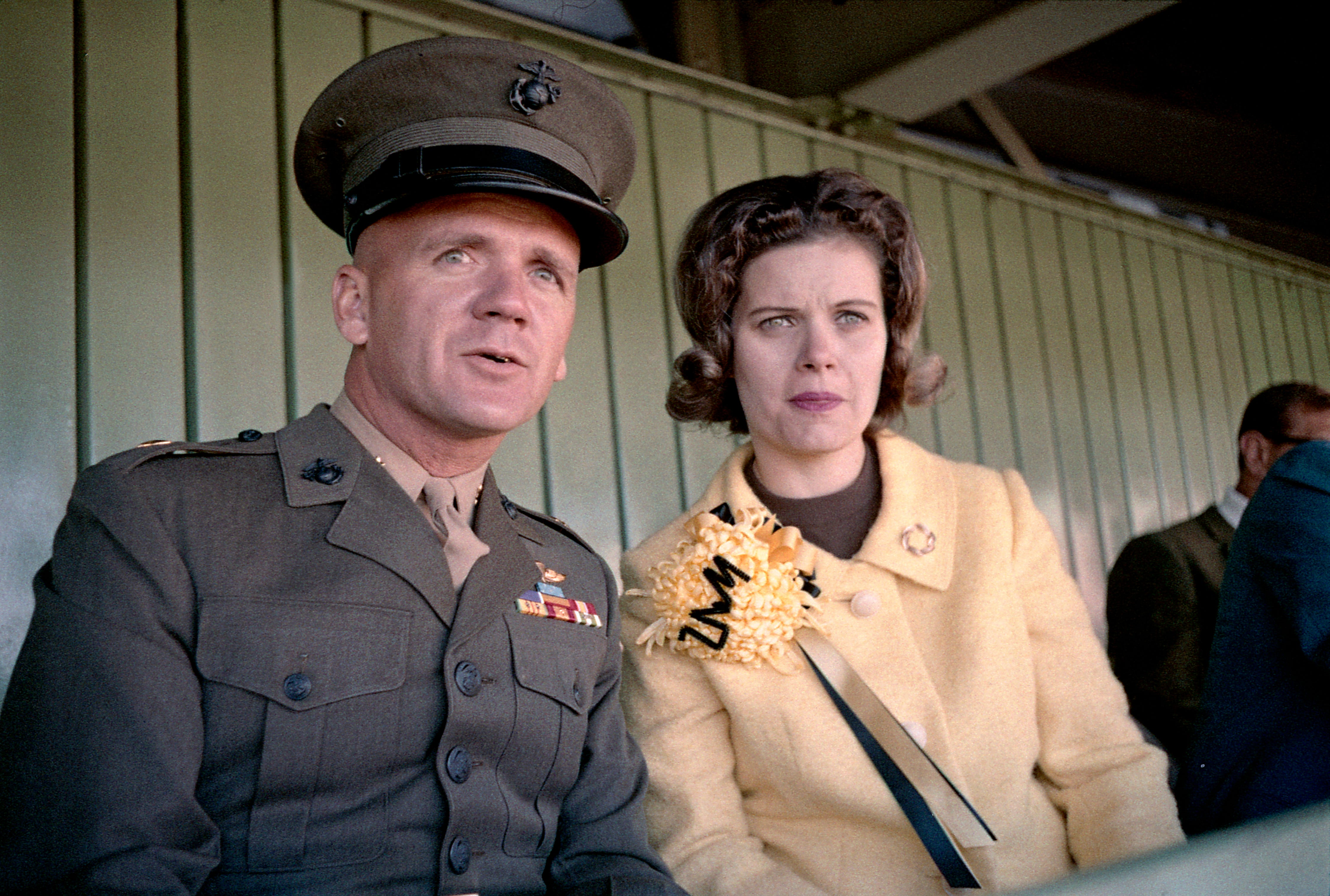 Medal of Honor winner Maj. Robert J. Modrzejewski and his wife, Diane, take in the University of Wisconsin-Milwaukee football game at Marquette Stadium on Oct. 19, 1968. Modrzejewski, who was born on the south side of Milwaukee and went to Pulaski High School, graduated from UWM in 1957.