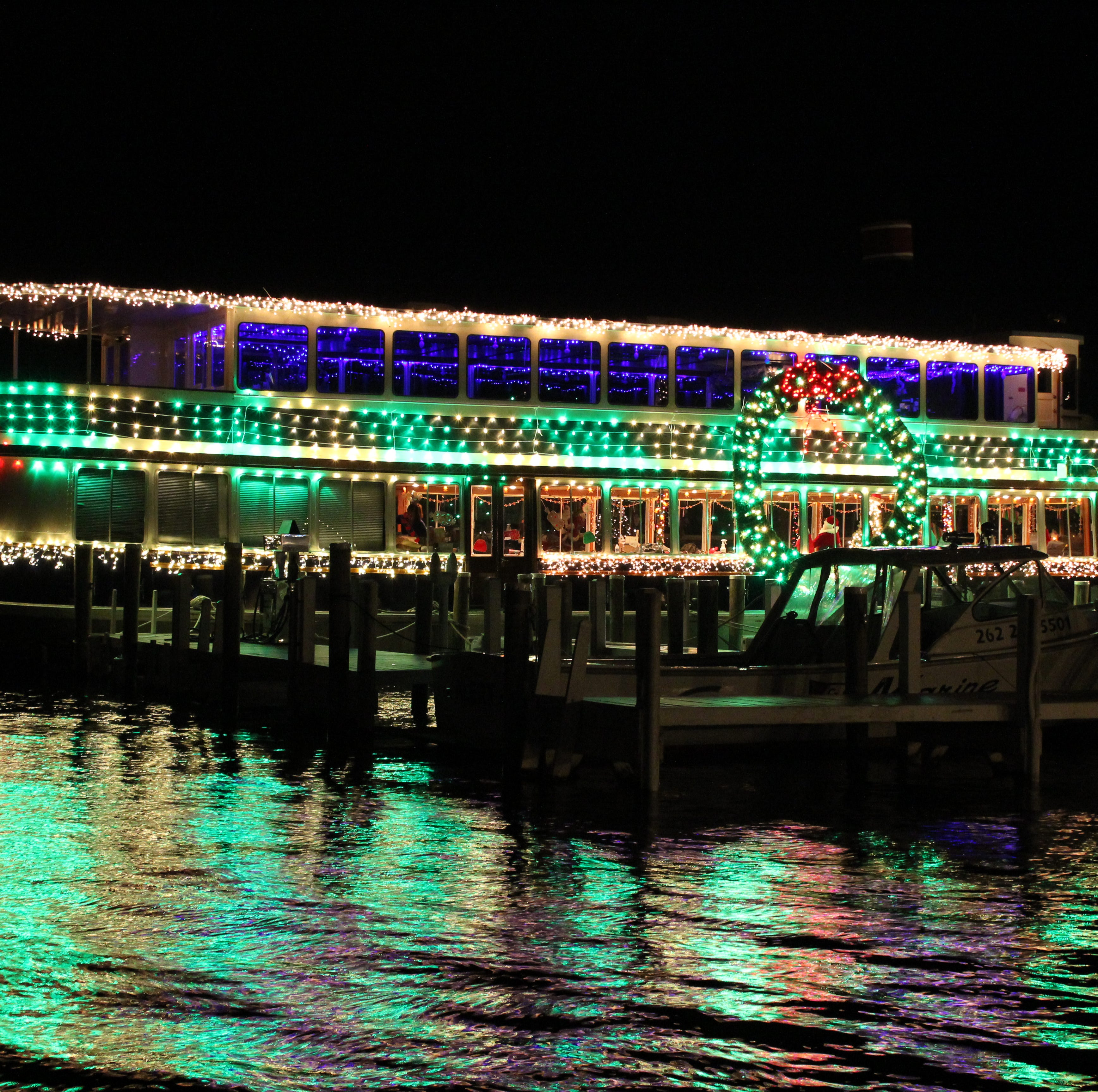 Lighted Santa Cruises on Geneva Lake are like a watery Polar Express