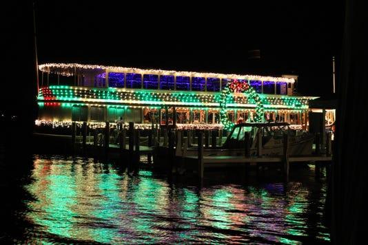 Lake Geneva Santa Boat