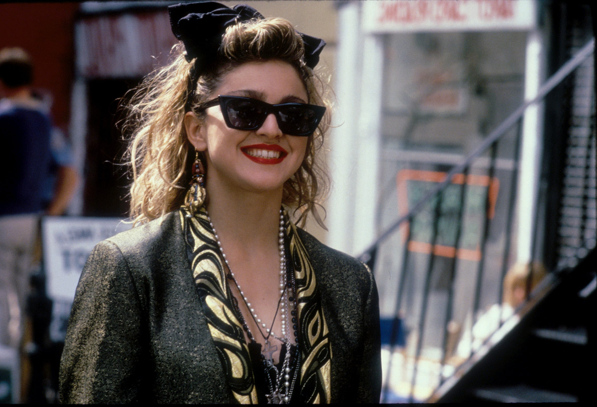 Madonna is Susan in the 1985 comedy ''Desperately Seeking Susan.''