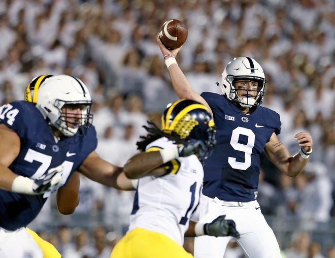 Penn State quarterback Trace McSorley completed a college-low 5 of 13 passes for 83 yards, with one interception, in last Saturday's loss to Michigan.