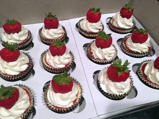 Mini cheesecakes are especially popular these days.