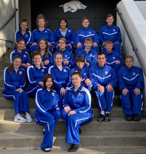 The Mountain Home Bombers and Lady Bombers swim teams at their season-opening meet at the University of Arkansas.