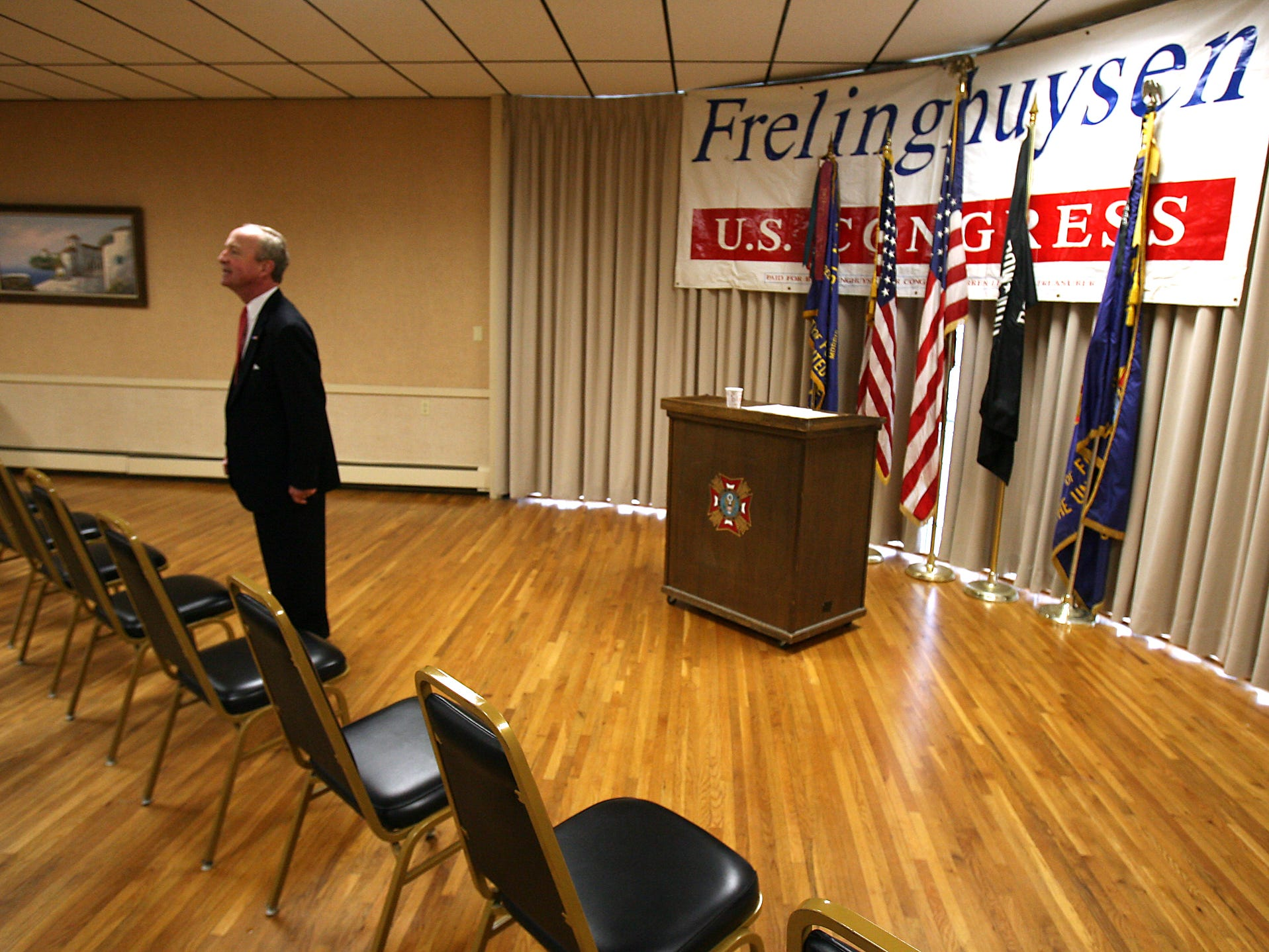 Morris Plains, March 22, 2010--Congressman Rodney Frelinghuysen , now in his 8th term announced at Morris Plains VFW Post 3401 that he would be running for re-election.