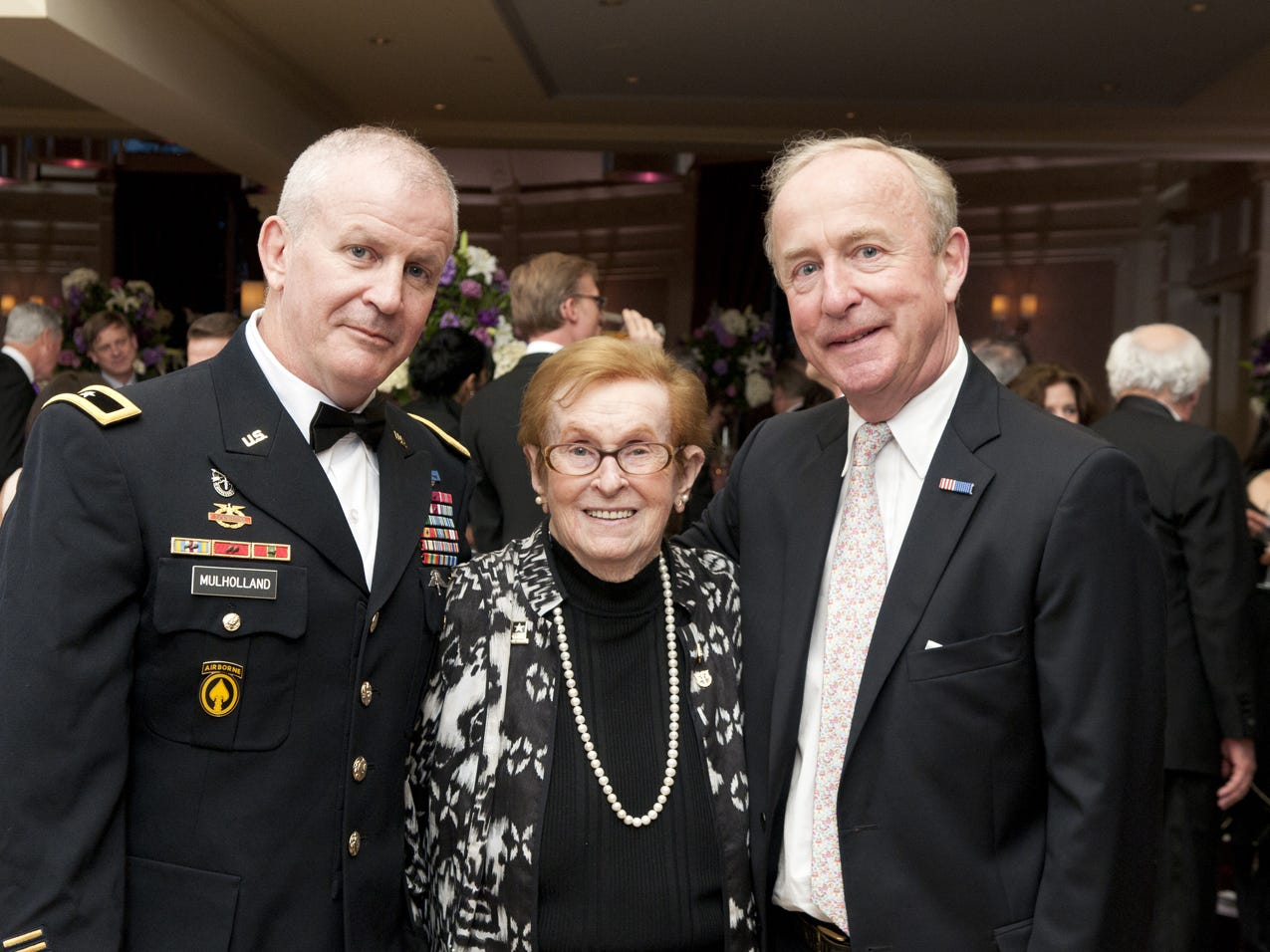 Brigadier General Sean P. Mulholland; Lifetime Achievement Award recipient Mary Mulholland; Congressman Rodney Frelinghuysen.