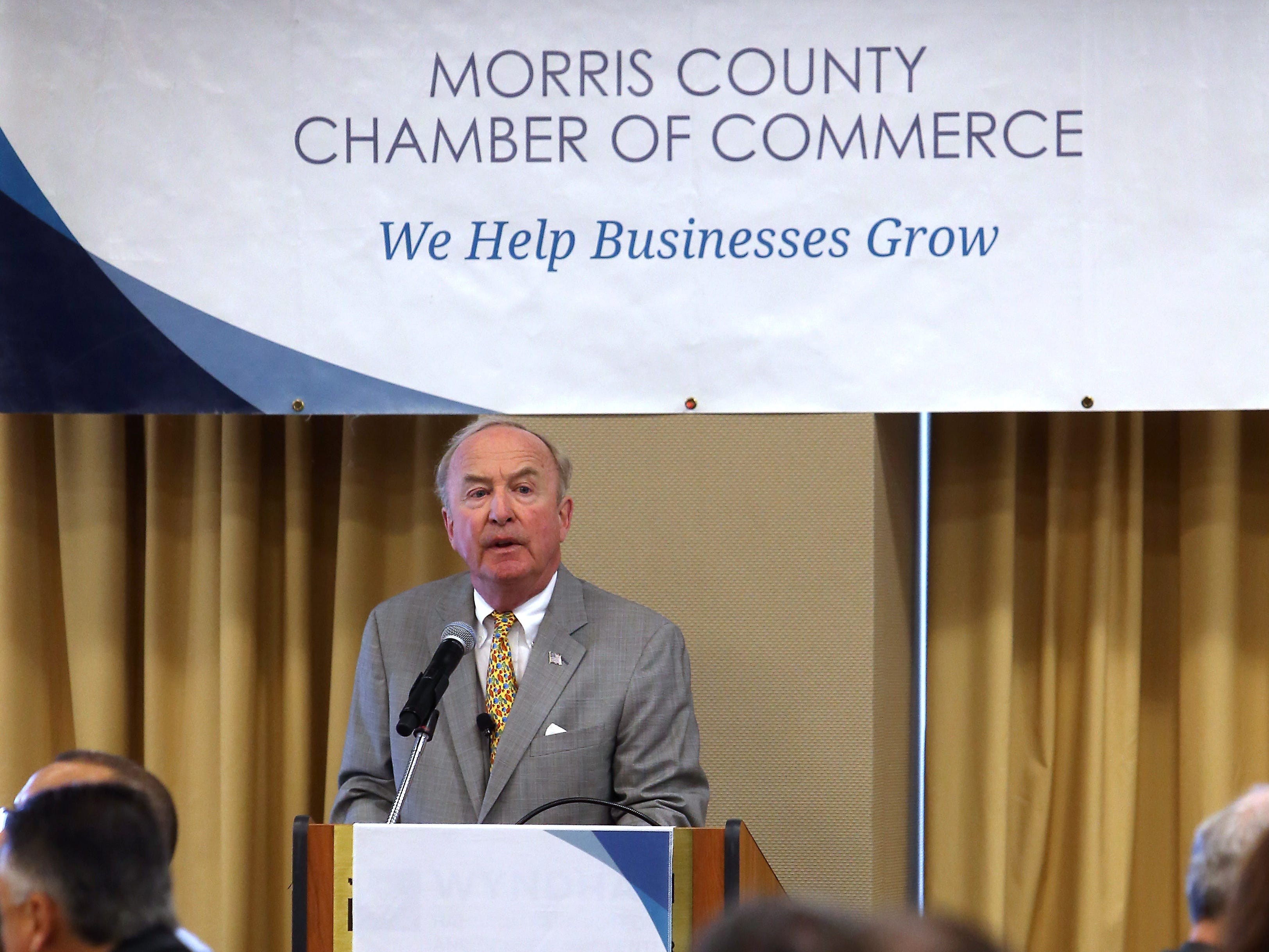Congressman Rodney Frelinghuysen was the guest speaker during the Morris County Chamber of Commerce Washington Update Breakfast held at the Wyndham Hamilton Park Hotel and Conference Center in Florham Park. May 12, 2017, Florham Park, NJ