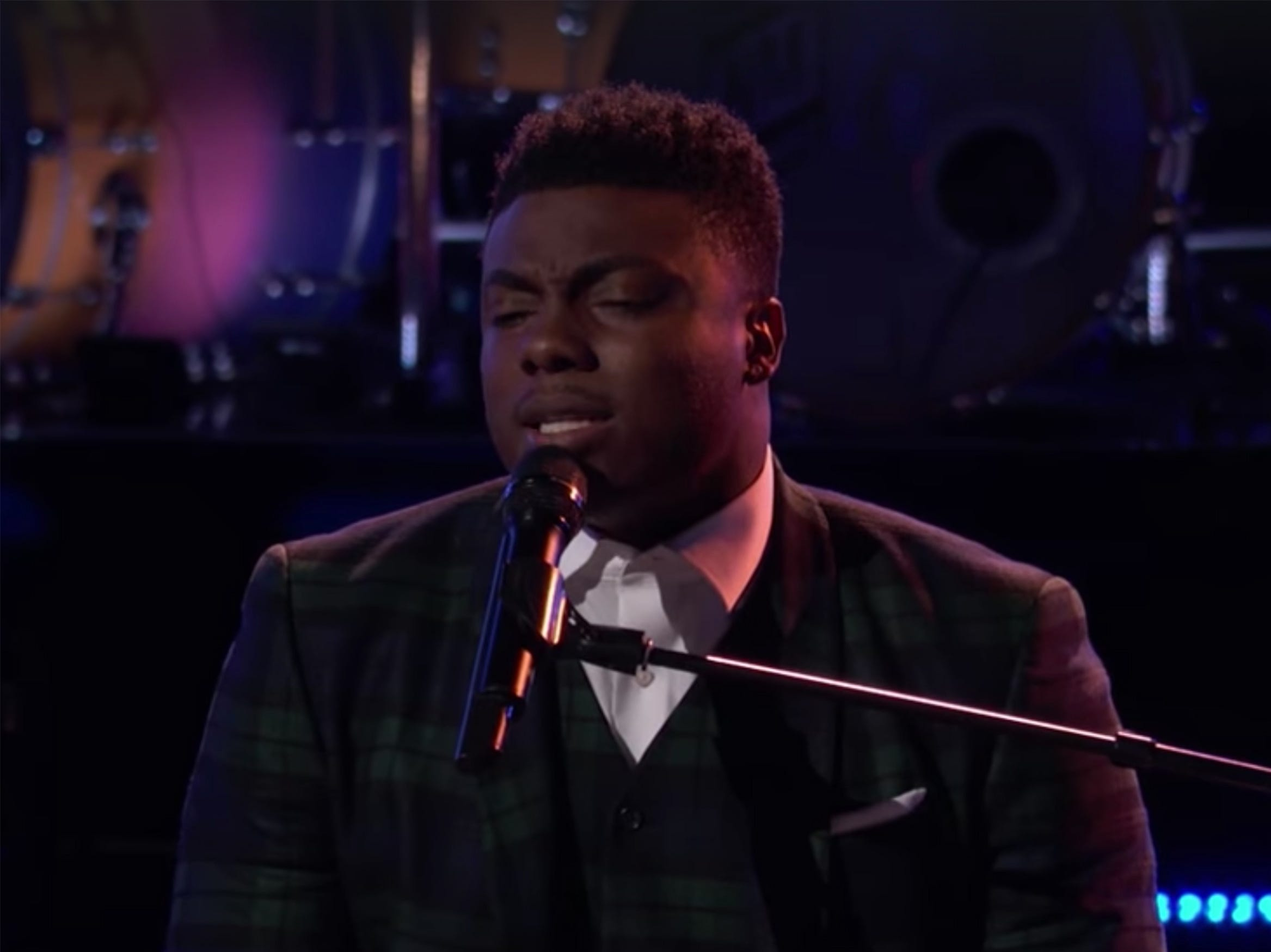 "Montgomery resident Kirk Jay performs ""In Case You Didn't Know"" during the knockout rounds on Monday night's episode of ""The Voice."""