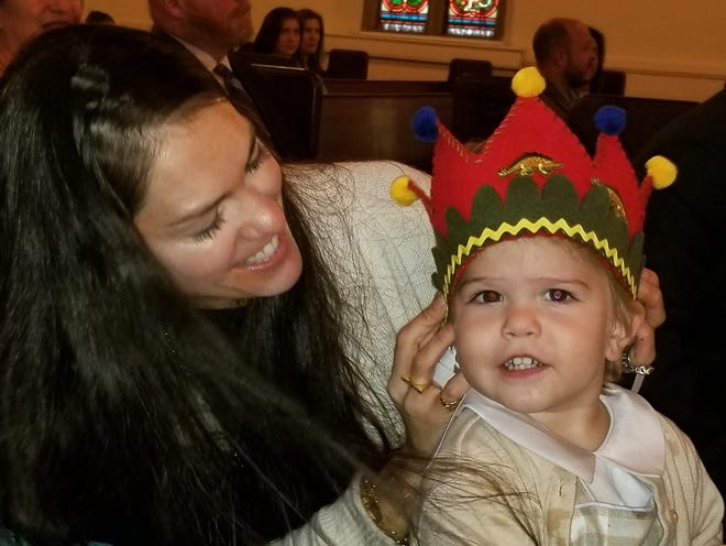 Emily Wise with her son, Boyd. The 66th annual Episcopal Church Women's Bazaar at St. John's Episcopal Church will be Wednesday, Nov. 14.