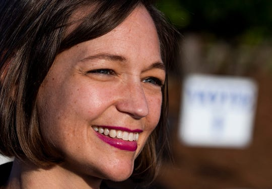 Tabitha Isner (seen here on November 6, 2018) is running for Alabama Democratic Party chair.