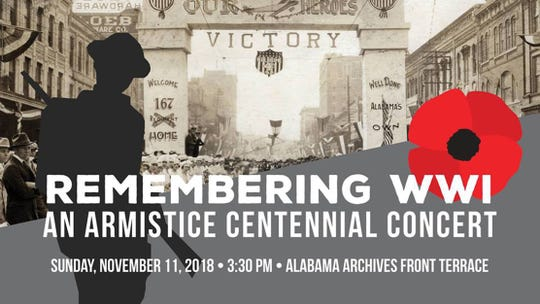 Remembering WWI: An Armistice Centennial Concert will be Sunday.