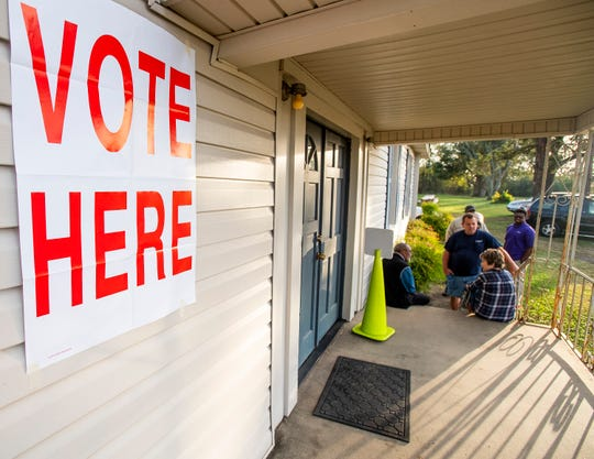 Voters wait for the polls to open at the Snowdoun Women's Club voting place in Snowdoun, Ala., on Tuesday November 6, 2018.