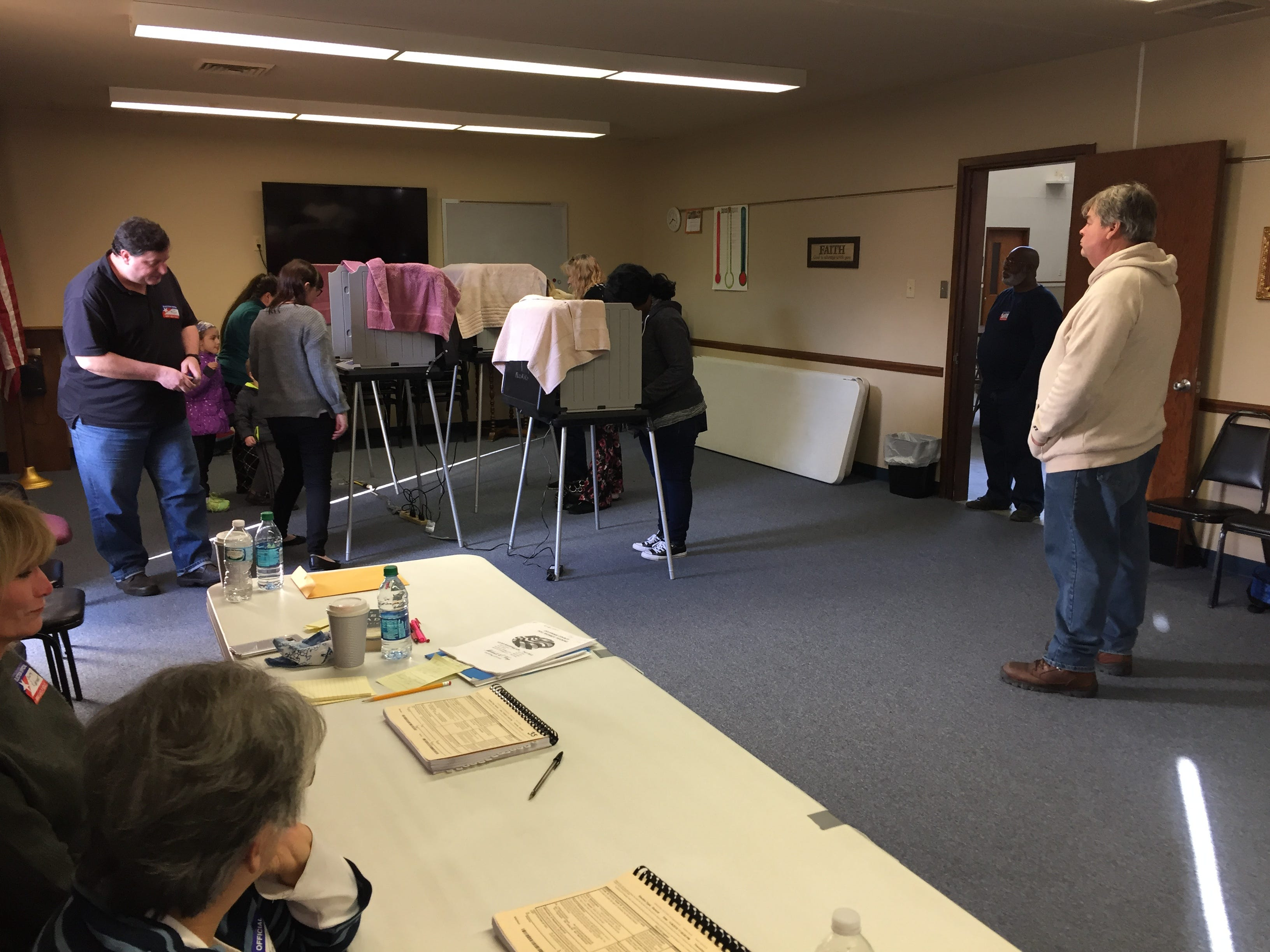 By late afternoon Tuesday, Nov. 6, 2018, many northside Muncie polling sites had five people or fewer waiting in line to vote.