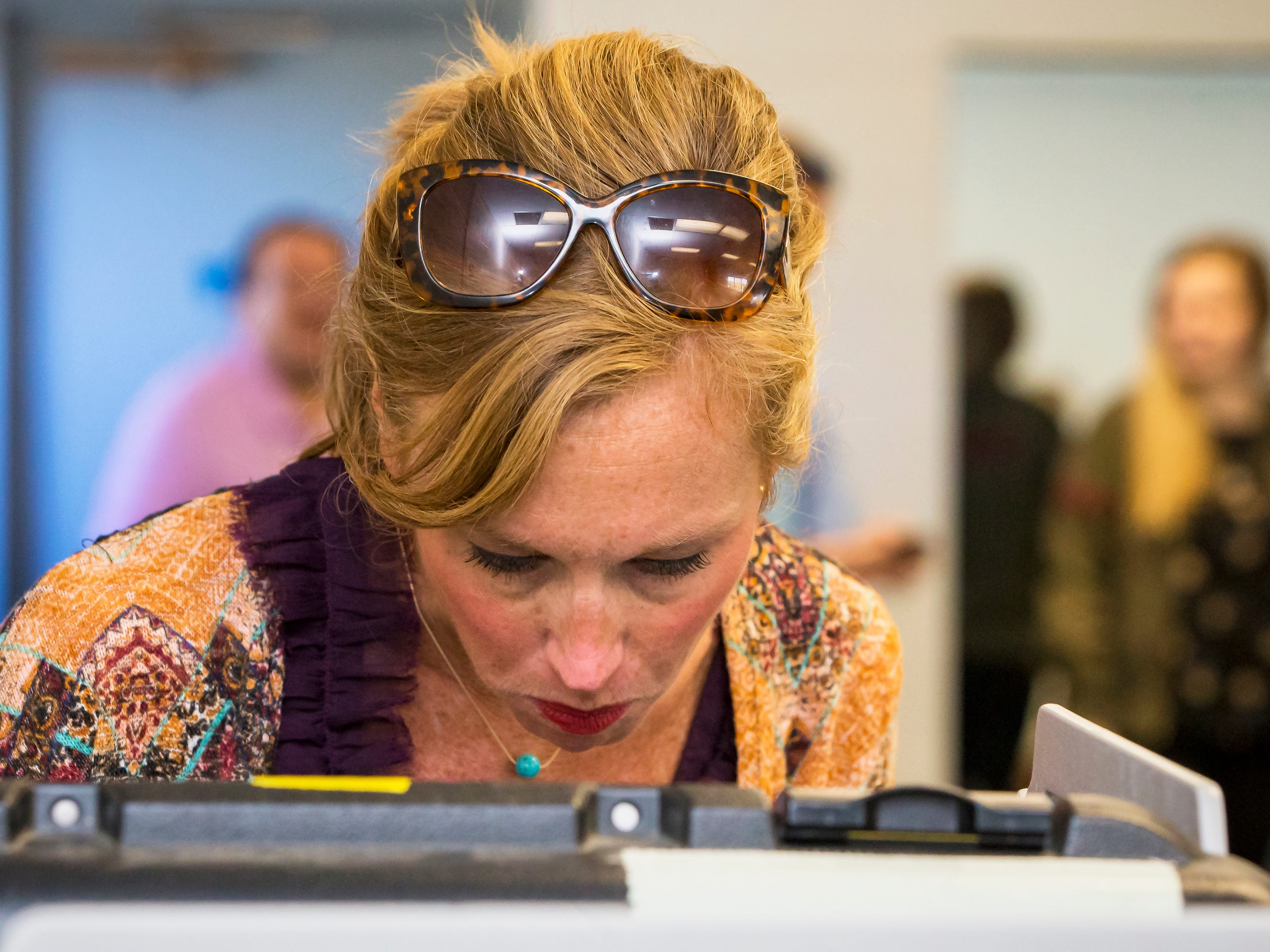 Heather Geren cast her vote at SportsCom Tuesday morning in Murfreesboro.