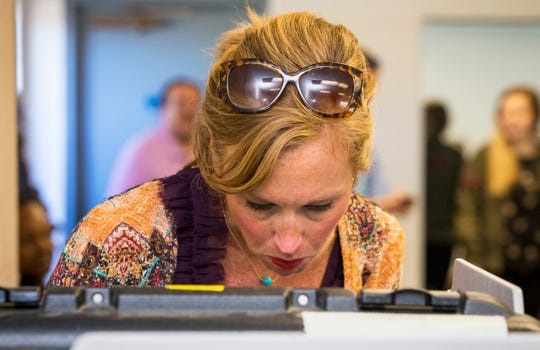 Heather Geren cast her vote at Murfreesboro's SportsCom in August 2018. Election officials said nearly a third of registered voters voted outside of their usual precinct thanks to the adoption of convenient centers, which will make a return in 2020.
