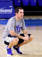 Former Ole Miss coach Matt Insell, shown, ended up taking an assistant job with MTSU and being reunited with dad, Rick Insell.