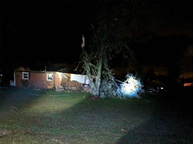 A woman was found dead in her home on Midland Fosterville Road after severe storms blew through Christiana.