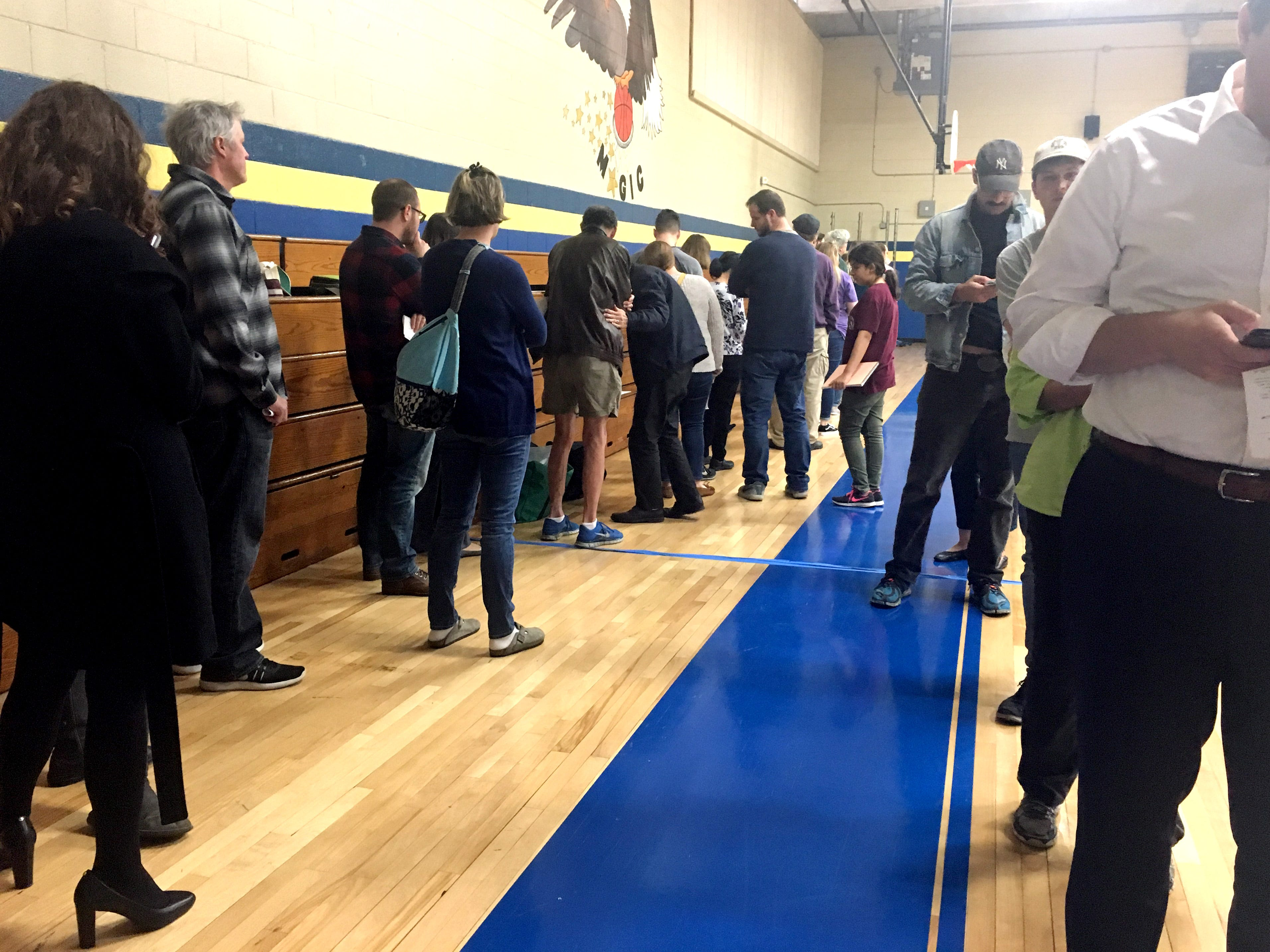 The scene at Eakin Elementary School around noon where two precincts vote Tuesday, Nov. 6, 2018.