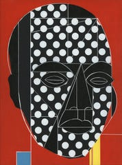 "Rob Matthews, ""Thrsa Kapangala,"" 2018 acrylic on canvas, 12 x 9."